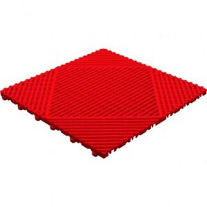 Klickfliese offene Rippenstruktur rund rot