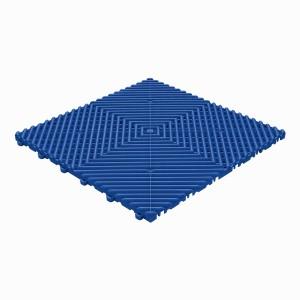 Klickfliese offene Rippenstruktur rund reflexblau