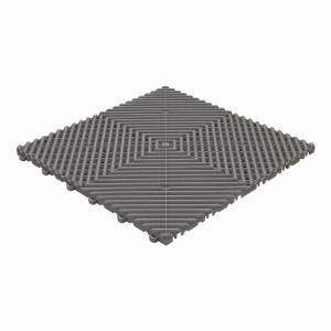 Klickfliese offene Rippenstruktur rund dunkelgrau