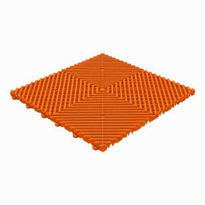 Klickfliese offene Rippenstruktur rund orange