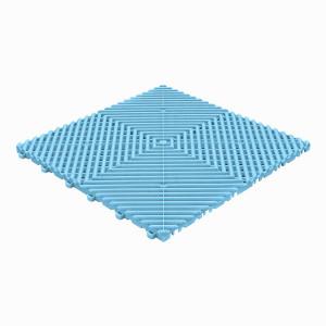 Klickfliese offene Rippenstruktur rund hellblau