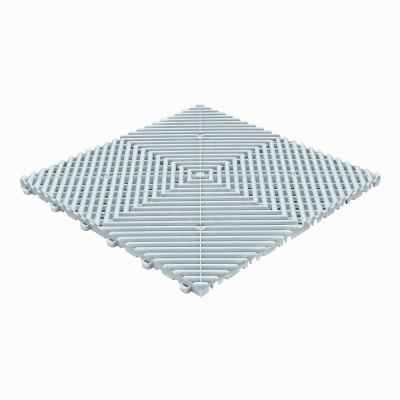 Klickfliese offene Rippenstruktur rund lichtgrau