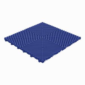 Klickfliese offene Rippenstruktur rund ultramarinblau