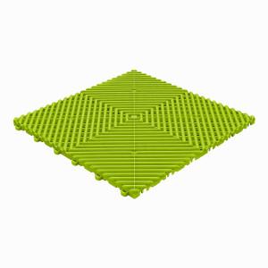Klickfliese offene Rippenstruktur rund limette