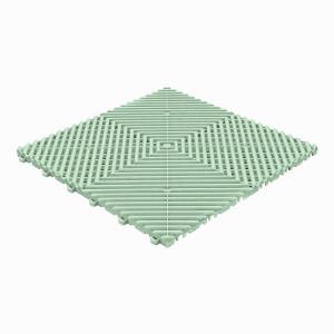 Klickfliese offene Rippenstruktur rund minze