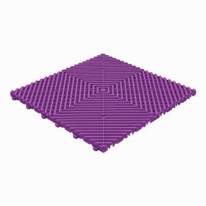 Klickfliese offene Rippenstruktur rund violet