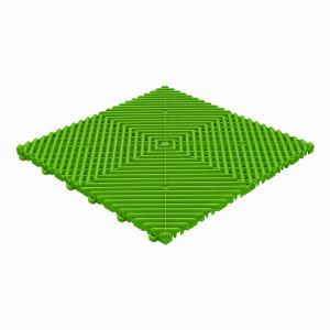 Klickfliese offene Rippenstruktur rund gelb-grün