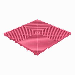 Klickfliese offene Rippenstruktur rund pink