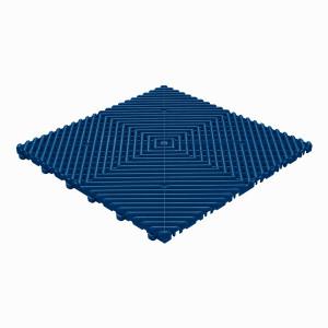 Klickfliese offene Rippenstruktur rund dunkelblau