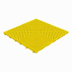 Klickfliese offene Rippenstruktur rund gelb