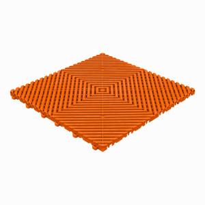 Klickfliese offene Rippenstruktur orange
