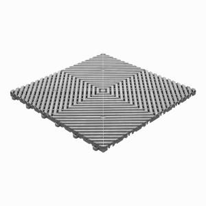 Klickfliese offene Rippenstruktur grau-alu