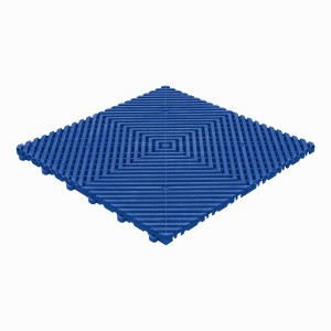 Klickfliese offene Rippenstruktur flach Reflexblau