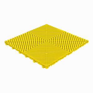 Klickfliese offene Rippenstruktur flach gelb
