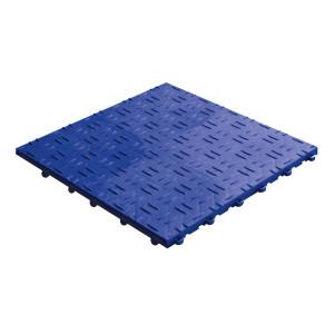 Klickfliese Riffelblechoptik blau