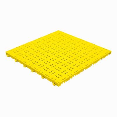 Klickfliese Riffelblechoptik gelb