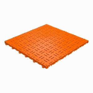Klickfliese Riffelblechoptik orange