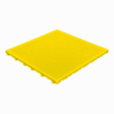 Klickfliese Lederoptik gelb