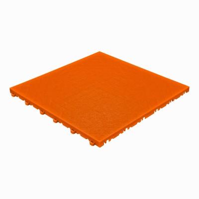 Klickfliese Lederoptik Orange