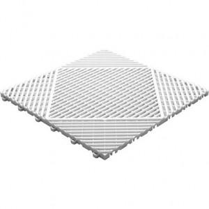 Klickfliese offene Rippenstruktur rund weiß